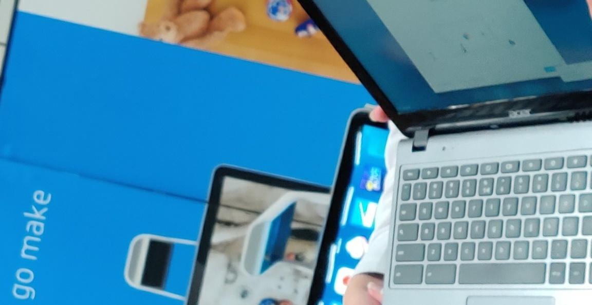 Chromebooks gekregen van Vitasys op het PET Event in Alkmaar