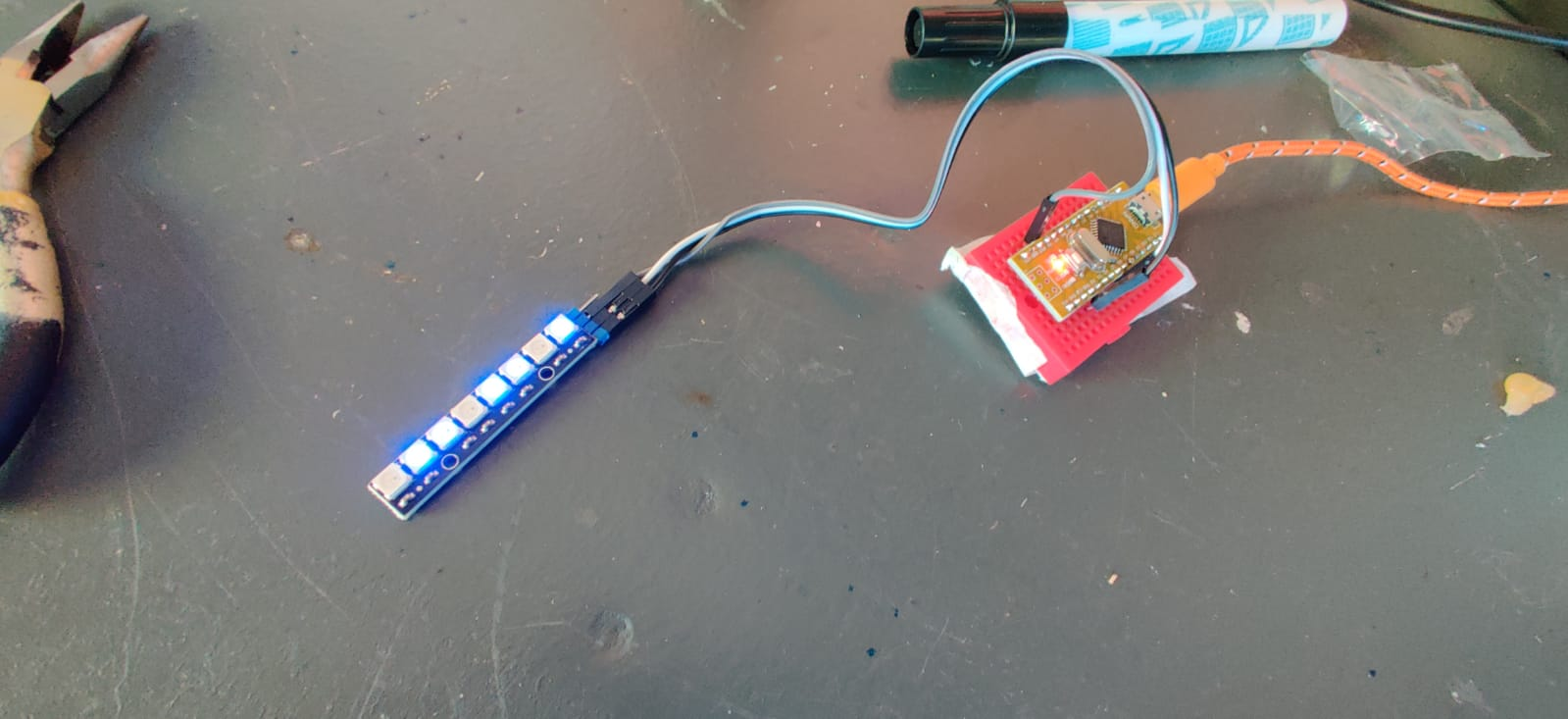 Lab – Arduino NeoPixel licht stokje – spelen met licht