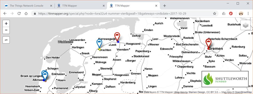 Lessen – IOT data connecties met TheThingsNetwork en AWS S3