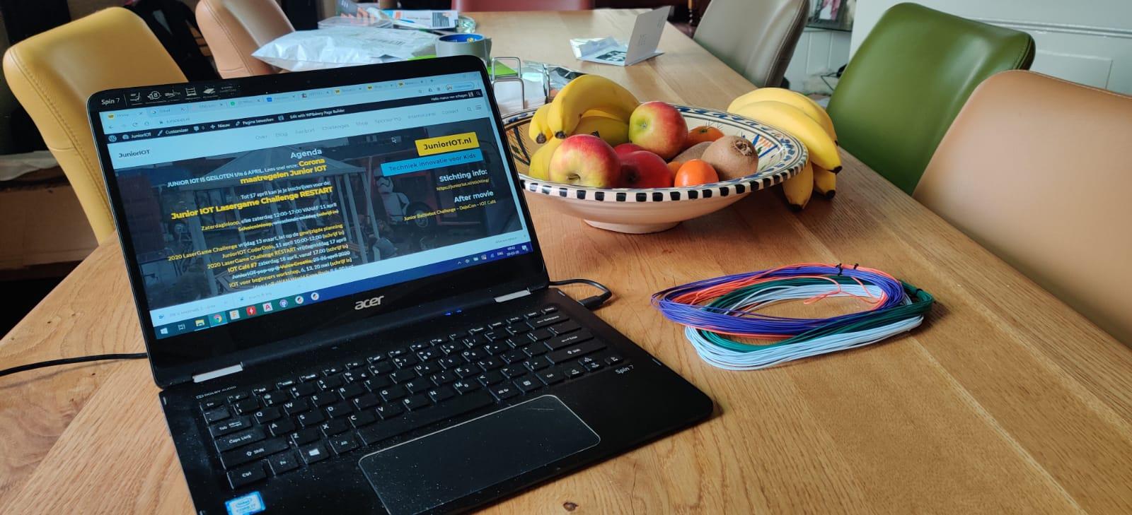 Junior IOT online – koop nu je eigen werksetje om thuis verder te werken