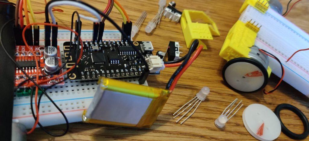 Lolin32 ESP32 wifi robot auto onderdelen voor de wielen en motors